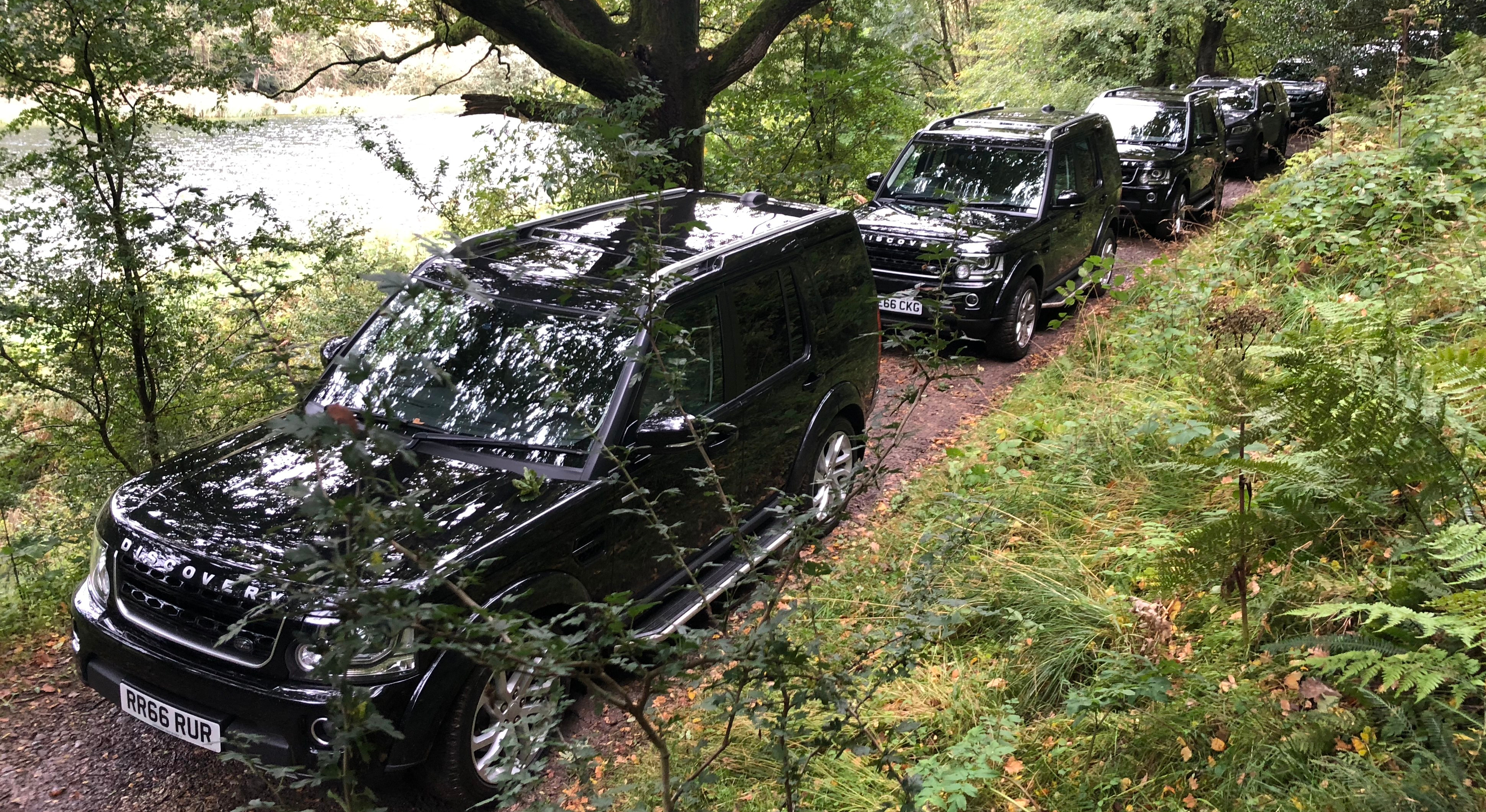 Shooting Party Convoy at the Rievaulx Shoot near Helmsley