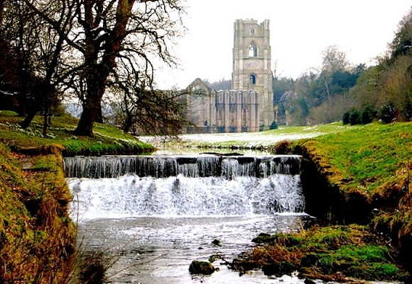 Fountains Abbey in the Yorkshire Dales